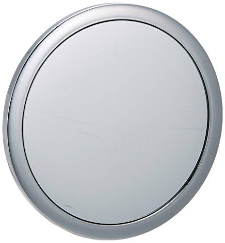 WENKO 16879100 Espejo de maquillaje de aumento Pistoia - espejo cosmética, ø 12.5cm, Plástico, 3.5 cm, Cromo