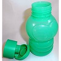 1 A TUPPER Botella Flip Top botella WILMA gusano - 350 ml --- Verde