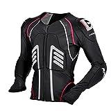 WJH Motorradjacke Motorrad-Ganzkörper-Protektor Pro Street Motocross ATV Guard Shirt Jacke mit Rückenschutz für Männer und Frauen,XXL