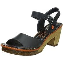 ART AMSTERDAM 0325 - Zapatos con correa de tobillo de cuero para mujer