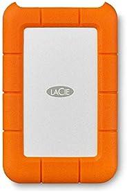 LaCie STFR2000800 2 TB Rugged Mini USB 3.1 (USB-C + USB 3.0) Portable 2.5 Inch Shock, Drop and Crush Resistant