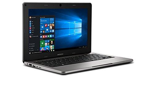 MEDION AKOYA S2218 MD 99630 29,5cm (11,6 Zoll mattes HD Display) Notebook (Intel Atom Z3735F, 2GB RAM, 64GB Flash, Intel HD-Grafik, Win 10 Home) silber