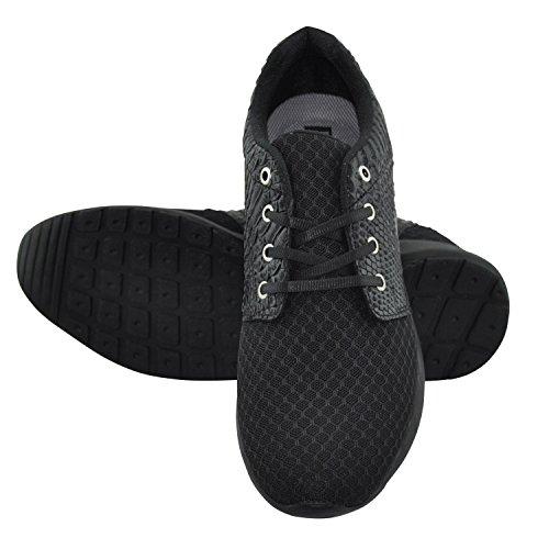 SØDERBERGH Turnschuh Laufschuh Sneaker mit Snake Optik - Herrenschuh in schwarz, rot, weiss Schwarz