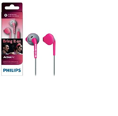ae37505b016 Philips SHQ1200 ActionFit Sports In-the-ear Headphone without Mic (Pink and  Grey)