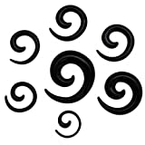 SoulCats® Dehnschnecke Set Dehner Dehnstab Dehnset Taper Stern Leo Zebra, Größe:2 mm;Modell:Modell 10
