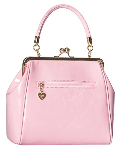 Banned Apparel American Vintage 50s Rockabilly glänzend handtasche Rosa