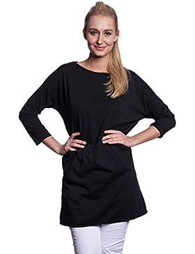 Abbino 7005-18 Camisas Blusas Tops para Mujer - Hecho en ITALIA - 6 Colores - Entretiempo Primavera Verano Otoño...