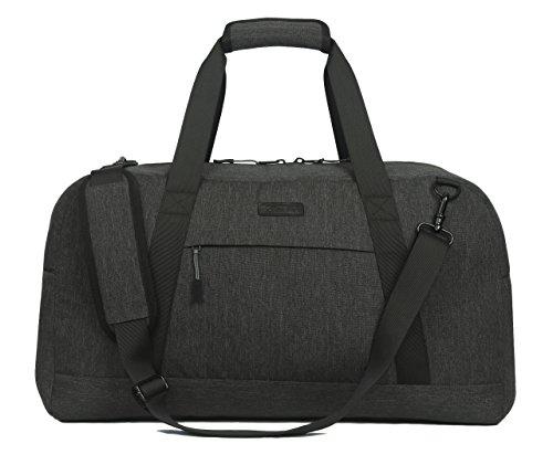 SONTOKO Reisetasche   Leichte und Robuste Umhängetasche   Handgepäck mit 52x24x30 cm (L/B/H)   Der Elegante Weekender in Anthrazit Grau