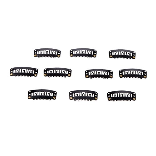 Generic Pack of 10pcs 32mm Wig Hairpiece Clip Snaps for Hair Extension Accessories  available at amazon for Rs.190