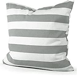iLory Funda de Cojín raya Funda de almohada amortiguador Generic Cama Inicio Alquiler Sofá decorativo,45 X 45 Cm (gris)