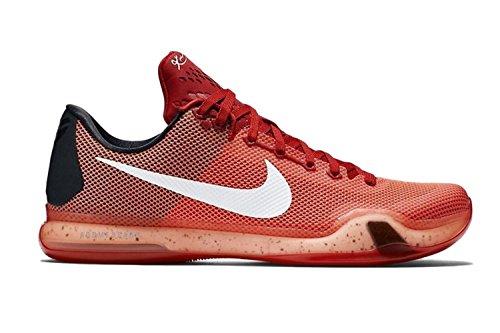 Nike Kobe X, Zapatillas de Baloncesto para Hombre, Rojo/Blanco (Unvrsty Rd/White-Brght Crmsn-H), 45 1/2 EU