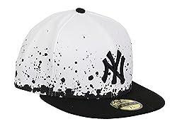 New Era New York Yankees Cap Panel Splatter White/Black - 7 3/8-59cm