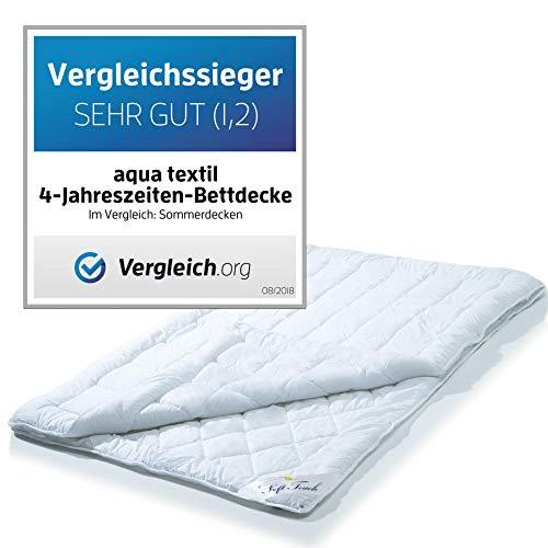 4 Jahreszeiten Bettdecke 135×200 cm Steppdecke atmungsaktiv kochfest aqua-textil - 2