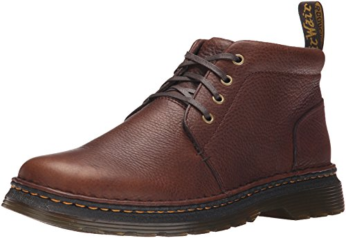 Dr.Martens Mens Lea Grizzly Leather Boots Brun Foncé