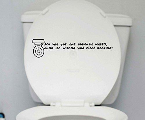 coperchio WC Adesivo nessuno Servizi Igienici Dicendo
