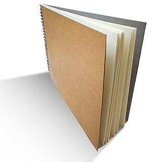 Eachgoo Skizzenbuch, Kunst Spirale gebunden 100% Recycling Zeichenpapier-A4 Querformat