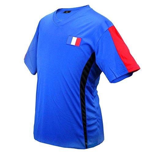 MC-Trend Frankreich France Fussball Trikot Blau Mannschaft Weltmeisterschaft UNISEX (XL)