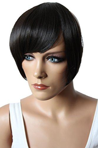 Prettyshop frangia clip in extension parrucca look naturale resistenti al calore fibra sintetica vari colori