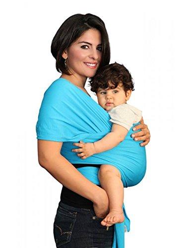 yogabellies® Certificazione di sicurezza Baby Sling Wrap | Super morbido, 100% cotone biologico per neonati, realizzato in UK | supporto per neonati e bambini, cappello, borsa e eBook garanzia a vita | ideale regalo