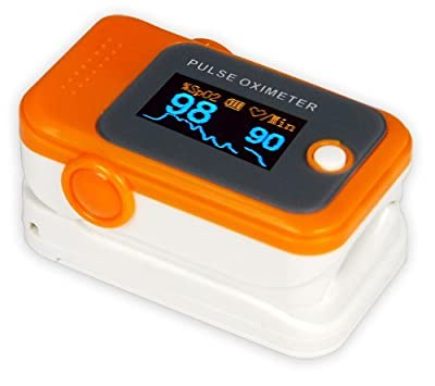 Finger Pulse Oximeter and Heart Rate Monitor with Alarm