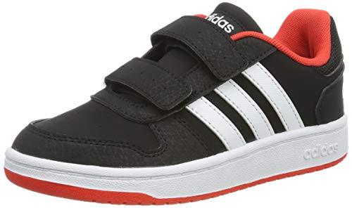 adidas Unisex-Kinder Hoops 2.0 CMF C Fitnessschuhe, Schwarz (Negro 000), 32 EU (Adidas Jungen Basketball Schuhe)