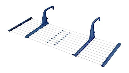 CASA SI Balkonwäscheständer balconFlex, blau