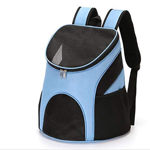 GHH Haustier Reise Rucksack Faltbar Transportbox Für Katzen Mit Matte| Katzenbox Transportbox | Leichte Reisetasche Tasche Für Kleine Hunde Und Katzen,Blue