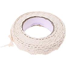 SODIAL(R) Rodilo de cinta de encaje etiqueta adhesiva decorativa Galon Cinta adhesiva de