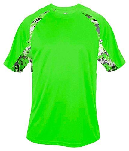 Badger - Maglietta sportiva -  uomo Multicolore - Lime/ Lime Digital