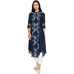 W for Woman Women's Shirt Kurta (17AU16909-50108_Blue_8)