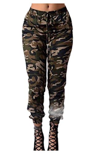 Energy Womens Girls Stylish Military Camo Standard-fit Outdoor Pencil Trousers AS1 S