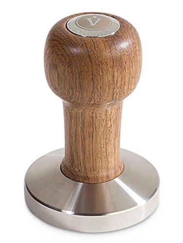 VIENESSO Espresso Tamper Set Premium Design – Klassischer Kaffee Stampfer aus Edelstahl und hochwertigem Echtholzgriff mit Ablage – Barista Set für den perfekten Kaffeegenuss (51mm)