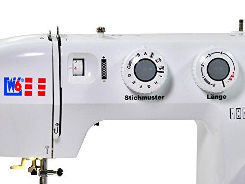 W6 N 1135 Nähmaschine - Freiarm Super Nutzstich-Nähmaschine (19 Programme) - 10 Jahre Garantie