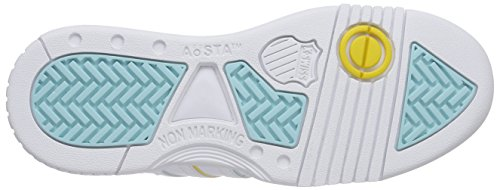 K-Swiss Gstaad, Baskets Basses femme Blanc - Weiß (WHT/CLRWTR/FREESIA/MATTEGLD 172)