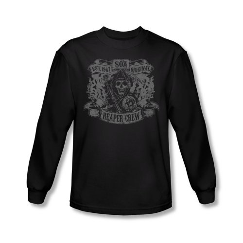 Sons of Anarchy - Sons Of Anarchy - Herren Original-Reaper Besatzung Longsleeve T-Shirt Black