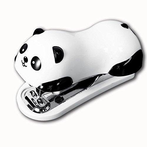 candora Cute Panda Mini Desktop Hefter & Plastikbeutel Heftklammern Hand Hefter Office/Home Hefter