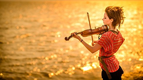 Music Lindsey Stirling Violinist Violin Wall Poster  available at amazon for Rs.199