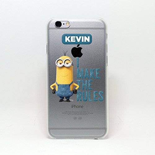 MINIONS TRANSPARENT CLEAR TPU SOFT CASE FOR APPLE IPHONE 8 STUART KEVIN