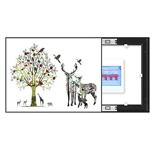LITING Stromzähler Box dekorative Malerei Schwacher Punkt Box Elektroschloss-Kasten-freies Stanzen No Trace Einfach Wohnzimmer Occlusion (Size : Outer60*50CM inner50*40CM)