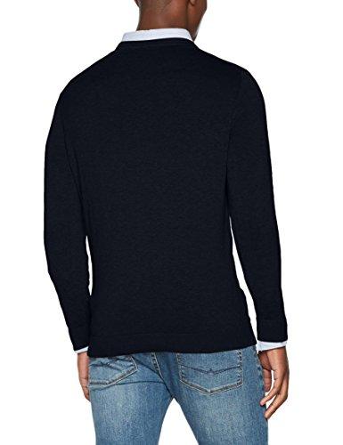 SELECTED HOMME Herren Pullover Shdtower Cot/Silk Crew Neck Noos Blau (Dark Sapphire)