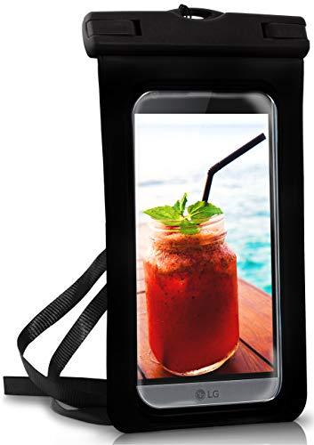 ONEFLOW® wasserdichte Handy-Hülle für alle LG Modelle | Touch- und Kamera-Fenster + Armband & Schlaufe zum Umhängen, Schwarz (Ocean-Black)