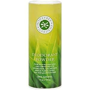 Honeybee Gardens: Talc, Aluminum and Gluten-Free Vegan Unscented Deodorant Powder For Men, 4 oz (Pack of 5)