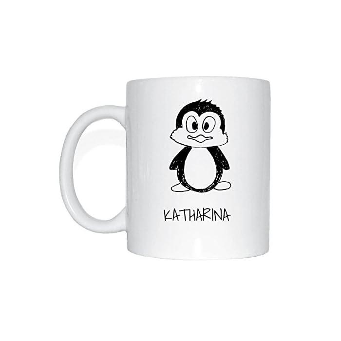 JOllipets KATHARINA Namen Geschenk Kaffeetasse Tasse Becher Mug PM5553 - Farbe: weiss - Design: Bär