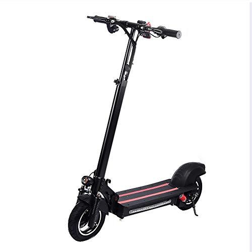 Ardorman Vespa eléctrica portátil, 10 Pulgadas de Doble Rueda de tracción eléctrica Kick Scooter para Adultos (Negro y Rojo)