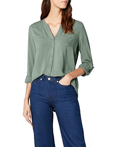 ONLY Damen onlFIRST LS Pocket Shirt NOOS WVN Bluse, Grün (Laurel Wreath), 42