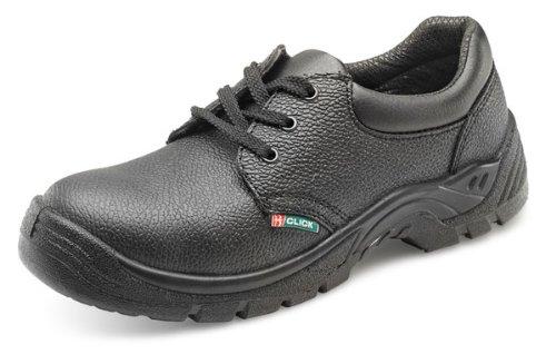 Click Dual Density Safety Shoe Steel Toe&Midsole Black - Size 41/07 Brown Steel Toe Slip
