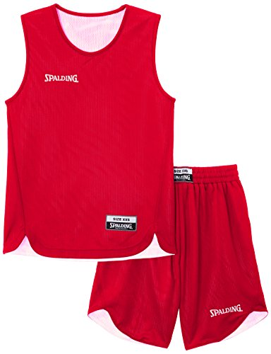Spalding Kinder Trikot Doubleface Set, 300401001, rot (Rot/Weiß), Gr. M (Basketball-baby-mädchen)