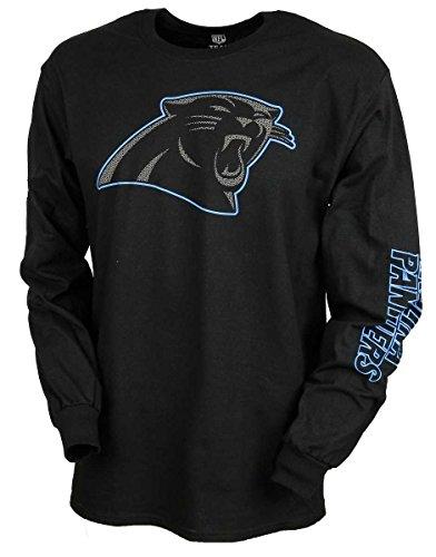Majestic Longsleeve - NFL Carolina Panthers schwarz - L (Nfl Panthers Hoodie)