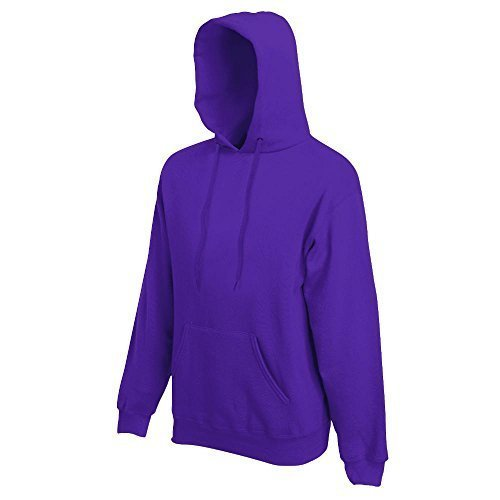 Fruit of the Loom - Kapuzen-Sweatshirt 'Hooded Sweat' L,Purple Lightweight Hooded Pullover Sweatshirt