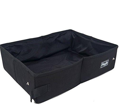 Petsfit Portable Foldable Cat Litter Box,Travel Lightweight Litter Boxes,Black 6